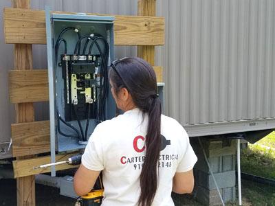 add circuit upgrade breaker box